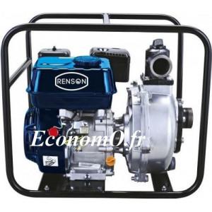 Motopompe Renson Essence Haute Pression de 3 à 24 m3/h entre 56 et 21 m HMT - EconomO.fr