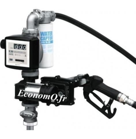 Groupe de Transvasement ATEX PIUSI DRUM EX50 12 V DC avec Pistolet Automatique et Compte-litres K33 - EconomO.fr