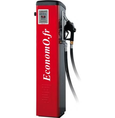 Distributeur de Gasoil Piusi Self Service 100 K44 Pulser a Compteur Mecanique 90 l/mn 230 V 1,15 kW sur Colonne