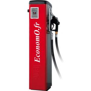 Distributeur de Gasoil Piusi Self Service 100 K44 F a Compteur Mecanique 90 l/mn 230 V 1,15 kW sur Colonne
