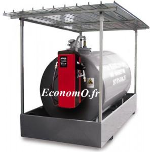 Distributeur de Gasoil Piusi Self Service 100 K44 Tank a Compteur Mecanique 90 l/mn 230 V 1,15 kW pour Reservoir