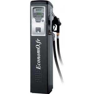 Distributeur de Gasoil Piusi Self Service 70 FM a Compteur Electronique 70 l/mn 230 V 0,9 kW sur Colonne