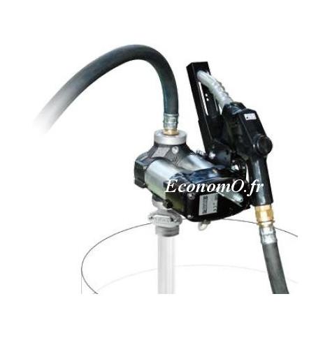 Groupe de Transvasement de Gasoil DRUM Bi-Pump 24 V A120 PIUSI 80 l/mn Pistolet Automatique - EconomO.fr