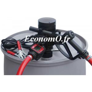 Groupe Pompe pour Transvasement de Gasoil Antigel et Eau PICO 12 K24 A PIUSI 12 V avec Compteur et Pistolet Automatique - Econom