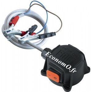 Kit Boitier Commutateur avec Pinces et 2 m de Cable pour Pompe BP 3000 Piusi 12-24 V
