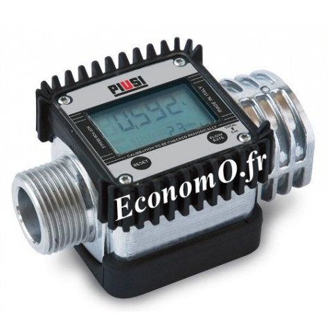 """Compteur Numerique a Turbine Piusi K24 UL 1"""" (26 x 34) BSP pour Gasoil Essence et Kerosene - EconomO.fr"""