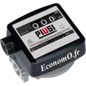 Compteur Mecanique Piusi K33 pour Biodiesel et Gasoil Sens du Flux de Haut en Bas - EconomO.fr