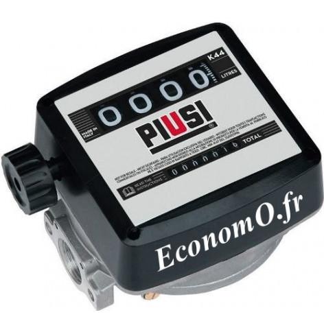 Compteur Mecanique Piusi K44 pour Biodiesel et Gasoil Sens du Flux de Haut en Bas - EconomO.fr