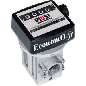 Compteur Mecanique Piusi a Engrenage K700M Sens du Flux de Gauche a Droite pour Diesel