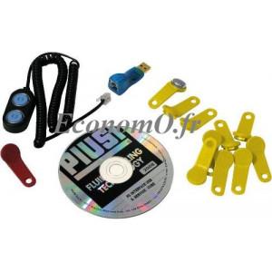 Kit Piusi avec Prise USB CD d installation 1 clef rouge de Gestion 10 clefs jaunes d utilisateur - EconomO.fr