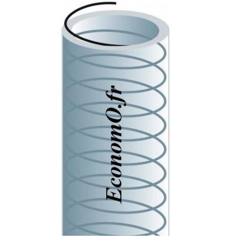 Tuyau d Aspiration PVC Piusi 10 bars D int 25 mm D ext 33 mm Longueur 60 m - EconomO.fr