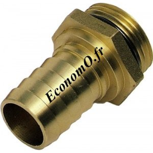 "Raccord Cannele 25 mm x 3/4"" (20 x 27) Male - EconomO.fr"