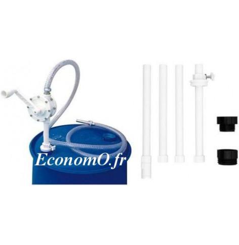 Pompe a Bras Suzzarablue PIUSI Rotative avec Tube Plongeur et Tuyau de 3 m - EconomO.fr