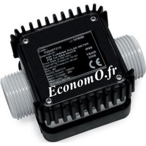 Compteur a Impulsion Suzzarablue K24 de 6 a 100 l/mn 10 bars avec Raccord - EconomO.fr