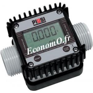 Compteur Suzzarablue K24 Affichage Electronique de 6 a 100 l/mn 10 bars avec Raccord - EconomO.fr