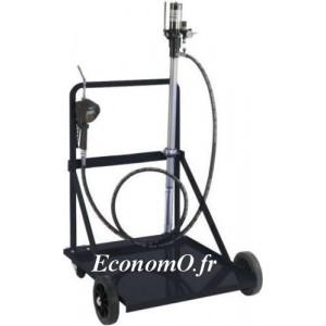 Pompe à Huile Pneumatique 5:1 Renson 17 l/min Canne 950 mm pour pour Fût de 200 L sur Chariot Roule Fût - EconomO.fr