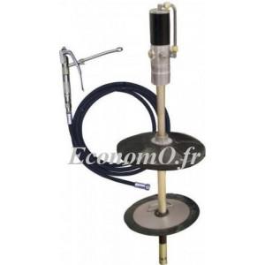 Pompe à Graisse Pneumatique 50:1 Renson pour Tonnelet de 50 à 60 kg avec Tuyau et Plateau Suiveur - EconomO.fr