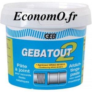 Pâte à joint Verte GEBATOUT pour Raccords Filetés - EconomO.fr