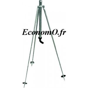 """Trepied Réglable 0,80 m Mâle 1"""" (26 x 34) - EconomO.fr"""