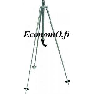 """Trepied Réglable 0,80 m Mâle 3/4"""" (20 x 27) - EconomO.fr"""