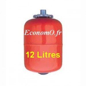 Ballon a Vessie Acier Eau Chaude RV 12L8 EC en Ligne 12 Litres 8 bars - EconomO.fr