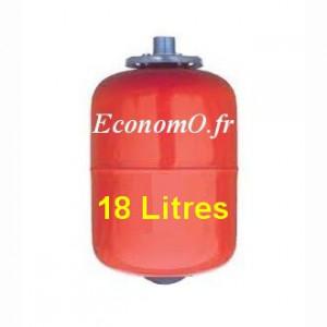 Ballon a Vessie Acier Eau Chaude RV 18L8 EC en Ligne 18 Litres 8 bars - EconomO.fr