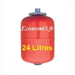 Ballon a Vessie Acier Eau Chaude RV 24L8 EC en Ligne 24 Litres 8 bars - EconomO.fr
