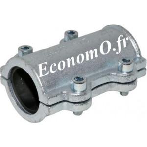 Collier de Réparation Long en Fonte Malléable pour Tube Acier Ø 21,3 mm Extérieur Longueur 134 mm - EconomO.fr