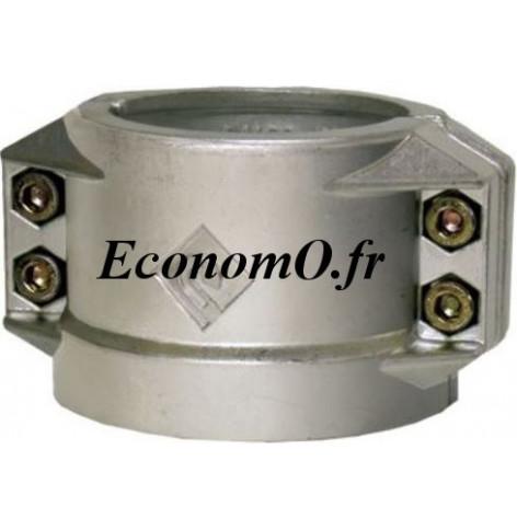 Collier 1/2 Coquille Aluminium Ø 38 pour Tuyau Ø Extérieur 53 à 56 mm - EconomO.fr