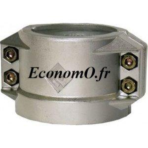 Collier 1/2 Coquille Aluminium Ø 200 pour Tuyau Ø Extérieur 222 à 229 mm - EconomO.fr