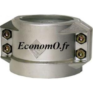 Collier 1/2 Coquille Aluminium Ø 100 pour Tuyau Ø Extérieur 122 à 126 mm - EconomO.fr