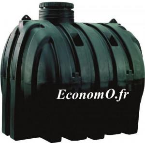 Cuve Enterree CU 3000 Calpeda pour Recuperation Eaux de Pluie 3000 Litres Trou d Homme 500 mm - EconomO.fr