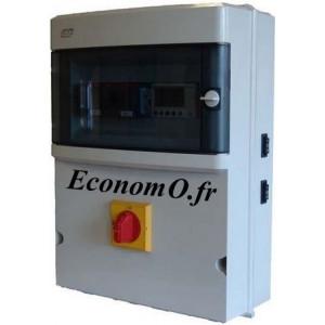 Coffret de Commande et de Protection Flygt CPEM-XL Tri 4 kW pour 2 Pompes de Relevage Tri 400 V  - EconomO.fr