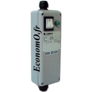 """Boîtier de Démarrage Lowara QSM 03 pour 1 Pompe de Forage 4"""" Mono 230 V 0,37 kW 16 µF - EconomO.fr"""