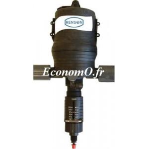 Pompe Doseuse Hydraulique Renson de 0,03 à 2,7 m3/h Dosage de 0,5 à 2,5 % - EconomO.fr