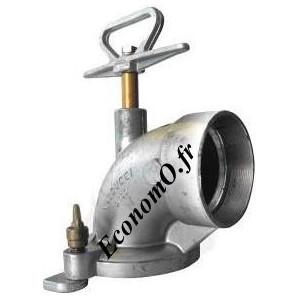 """Coude de Vanne Hydrant à Crampon en Aluminium Ø 100 mm x 4"""" (102 x 114) - EconomO.fr"""