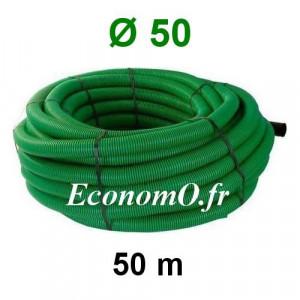 Gaine Verte pour Tous Usages Ø 50 mm Couronne de 50 mètres - EconomO.fr
