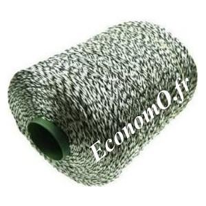 Fil d'Aiguilletage Vert Fluo/Noir Polyester Haute Visibilité Résistance 150 kg Longueur 2500 mètres