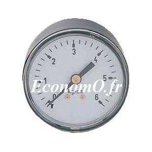 """Manomètre Axial 0 à 6 bars en ABS à sec D63 M 1/4"""" (8 x 13) - EconomO.fr"""