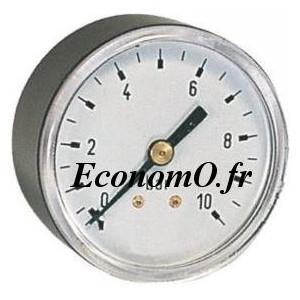 """Manomètre Axial 0 à 10 bars en ABS à sec D63 M 1/4"""" (8 x 13) - EconomO.fr"""