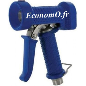 """Pistolet de Lavage Laiton Revêtement EPDM Bleu Standard 95°C 24 bar 1/2"""" (15 x 21) - EconomO.fr"""