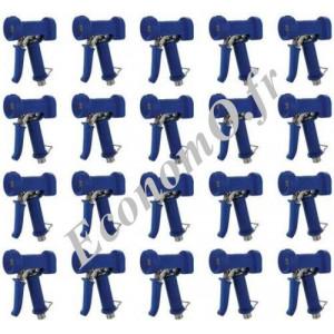 """Pistolets de Lavage Laiton Revêtement EPDM Bleu Standard 95°C 24 bar 1/2"""" (15 x 21) vendu par 20 - EconomO.fr"""
