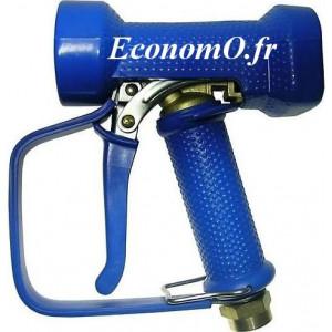 """Pistolet de Lavage Laiton Revêtement EPDM Bleu avec Protection Main 95°C 24 bar 1/2"""" (15 x 21) - EconomO.fr"""