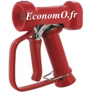 """Pistolet de Lavage Inox 316 Revêtement EPDM Rouge avec Protection Main 95°C 24 bar 1/2"""" (15 x 21) - EconomO.fr"""