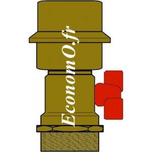 """Purgeur d'Air Type NEW ROMA Bronze avec Vanne 1"""" (26 x 34) Mâle - EconomO.fr"""