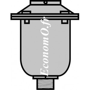 "Purgeur d'Air Type SIMPLEX Aluminium 1"" (26 x 34) Mâle - EconomO.fr"