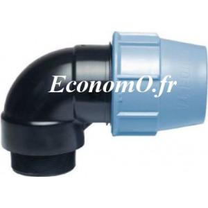 """Coude PE Polyéthylène UNIDELTA Mâle 90 x 4"""" (102/114) à Serrage Extérieur PN 16 - EconomO.fr"""