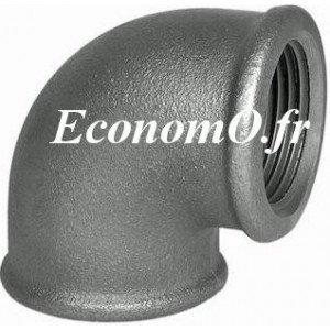 """Coude Égal Fonte Noire à 90° Femelle Femelle 3/4"""" (20 x 27) - EconomO.fr"""