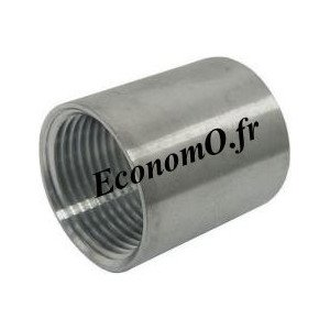 "Manchon Femelle Femelle Inox 316L 3/4"" (20 x 27) - EconomO.fr"