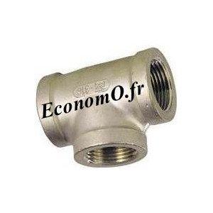 """Té Egal Femelle Inox 316L 1""""1/4 (33 x 42) - EconomO.fr"""